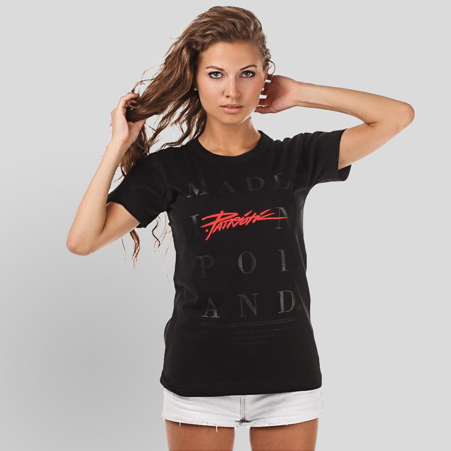 T shirt damski paski FEMALE Rozmiar S Kolor czarny